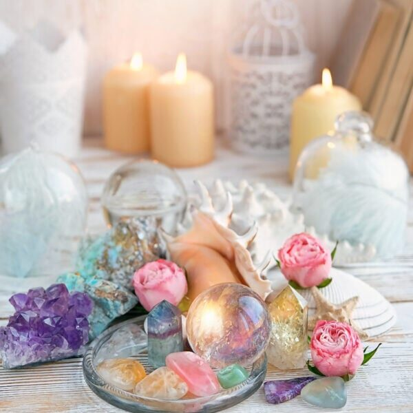 Rock crystal, fluorite, citrine. gemstones crystal minerals for relaxation and meditation. Crystal Ritual, Witchcraft, Crystal Layout, Prosperity, Meditation, Relaxing Chakra, Healing Crystals.